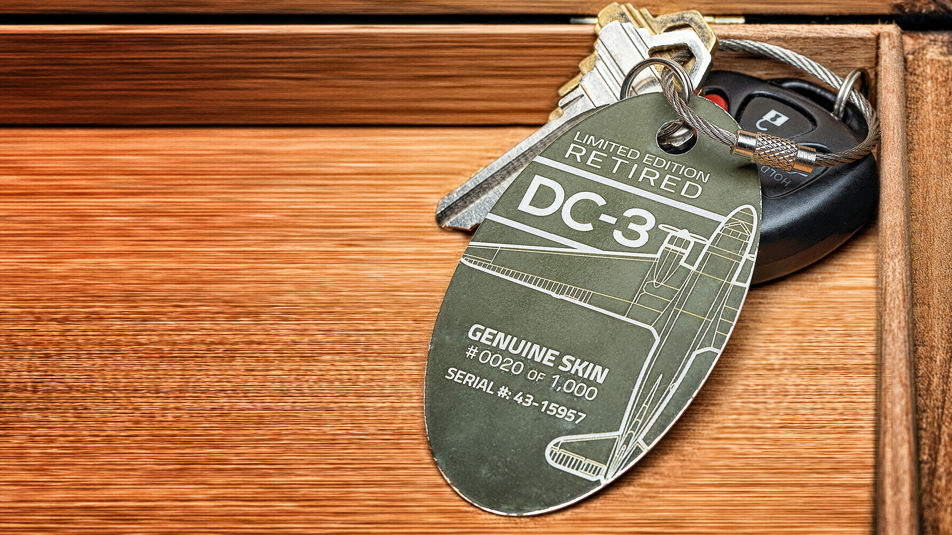 Plane tags can be used as key chains, luggage tags, or even dog tags (Source: Plane Tags)