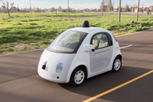 Google's self-driving vehicle prototype (2014). Source: Google