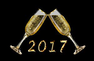 champagne, new year, happy new year, 2017, celebrate