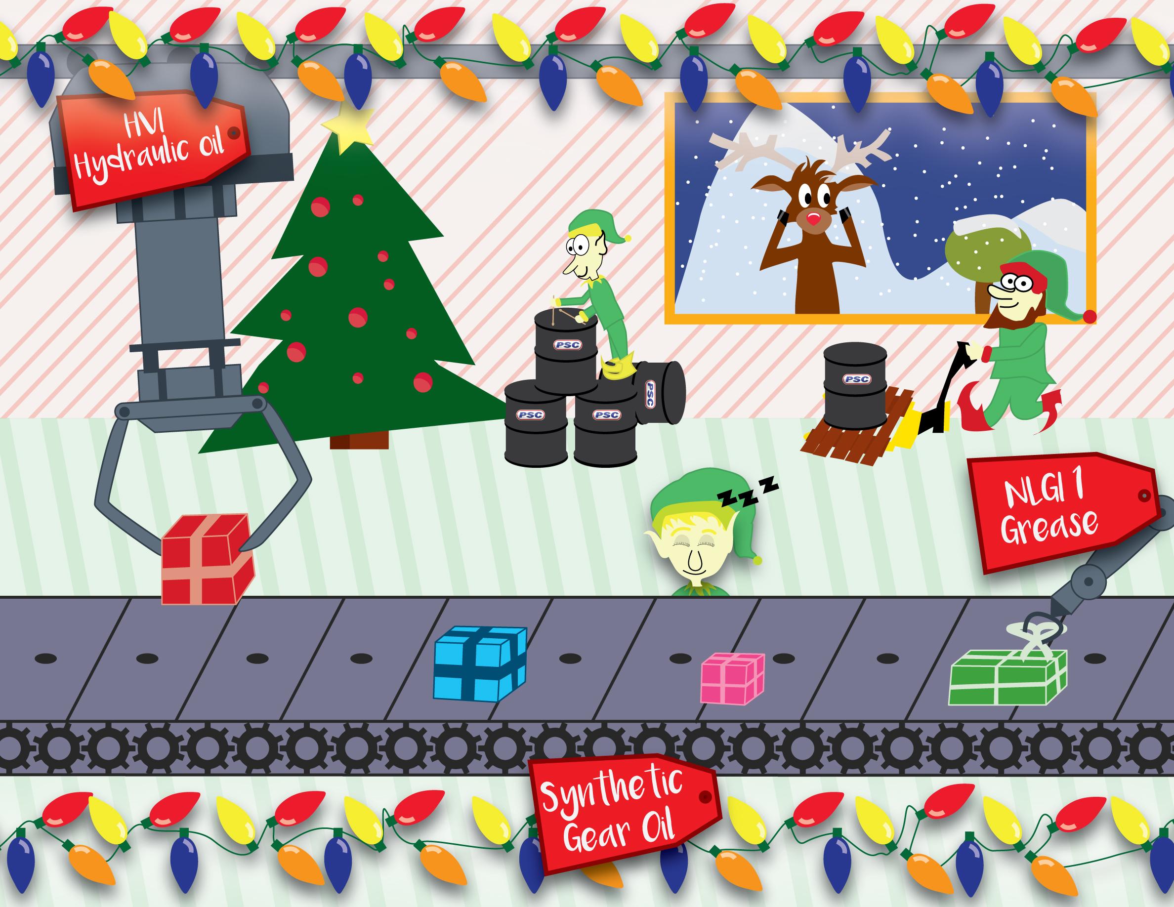 cold weather lubricants, PSC, santa, santa's workshop, north pole