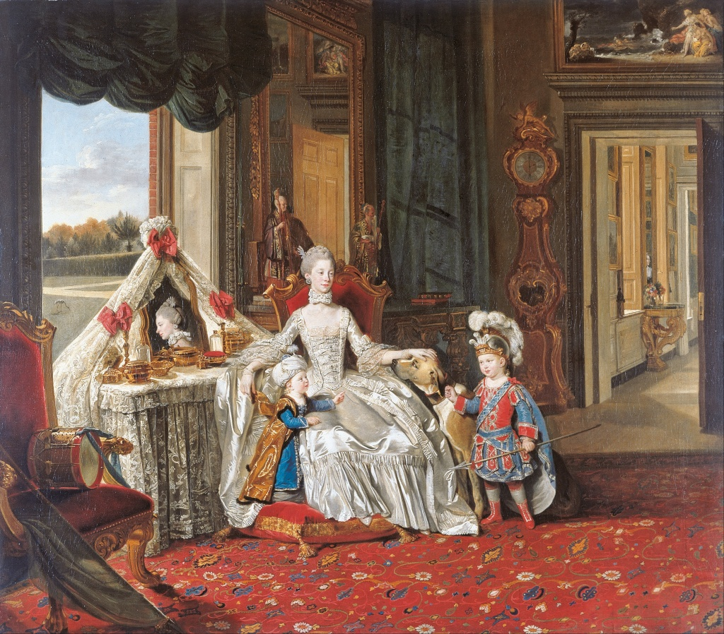Queen Charlotte in her Buckingham Palace Dressing Room