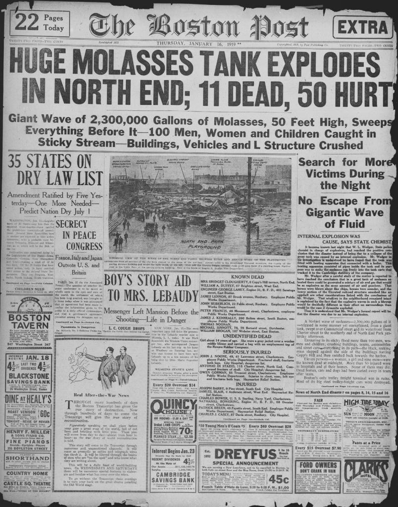 boston molasses flood 1919
